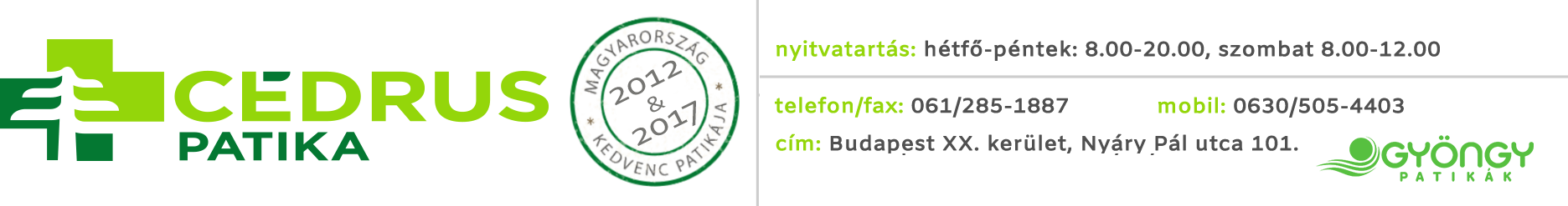 Cédrus Patika